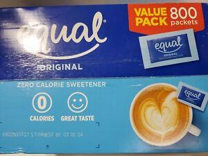 EQUAL Original Zero Calorie Sweetener, Sugar Substitute, 700 Packets.Exp.03/24