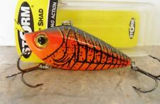 "Storm Rockin Shad 2.5"" - Orange Craw - Bass Barra Flathead Cod Lure"