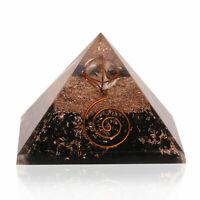Extra Large Black Tourmaline Stone Orgonite 70-75mm Gemstone Pyramid X-large