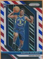 Aaron Holiday Rookie RWB 2018-19 Panini Prizm #114 Red White Blue RC Pacers Card