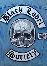 Black Label Society embroidered back patch set ozzy osbourne zakk wylde sabbath