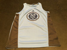 New York City FC MLS Adidas Men's Grey Climacool Sleeveless Training Jersey; Med