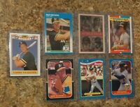 (7) Mark McGwire 1987 Donruss Fleer Sportflics Rookie 1988 Topps Card Lot RC A's