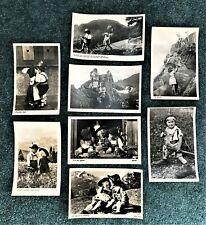 Vintage German Postcards Children in the Alps (8) Unposted
