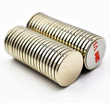 large & small NEODYMIUM MAGNETS 3M Self Adhesive Backing ~ 1mm 2mm thick ~ NORTH
