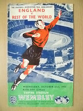1953 ENGLAND v REST OF THE WORLD, 21 Oct