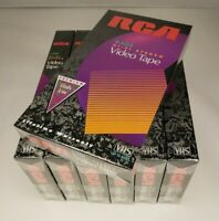 New RCA T-120 7 Pack VHS Blank Video Cassette Tapes 6 Hour sealed recordable Lot
