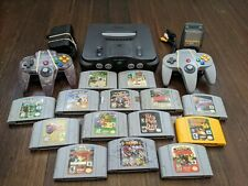 N64 game lot (Conker's, Mario, Zelda) with Nintendo 64 System and Controllers ++