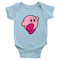 Kirby Video Game Anime Smash Bros Infant Baby Boy Girl Rib Bodysuit Shirt 0-24m