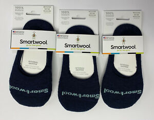 SmartWool Cushion Hide & Seek No Show Socks Women's Medium 7-9.5 Blue - 3 Pack