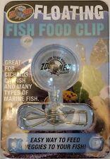ZOO MED FISH FOOD FLOATING VEGGIE CLIP FOR CICHLIDS CATFISH MARINE. US