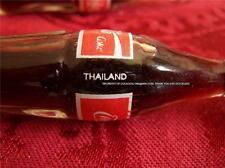 UNIQUE THAILAND Mini COKE 3 inch COCA COLA Full Glass Bottle Miniature Metal Cap
