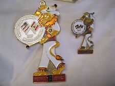 Lions Club Pin Set 2 Pins Washington 1977 British Columbia Drummer Lions Band