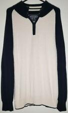 Nautica Jeans Men Size XL X-Large Pullover Sweater Quarter 1/4 Zip 100% Cotton