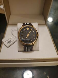Versace V Circle 42mm Leather