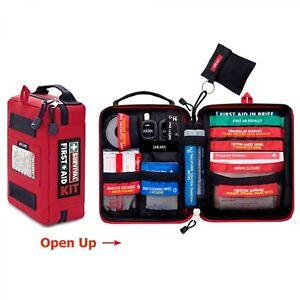 Emergency Medical Bag First Aid Kit Pack Survival Treatment Ambulance Set