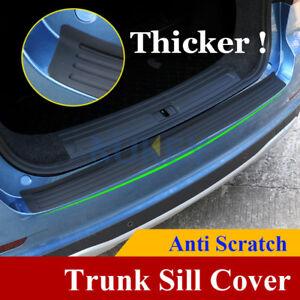 Black Rear Boot Bumper Sill Protector Plate Rubber Cover Guard Trim Strip Car