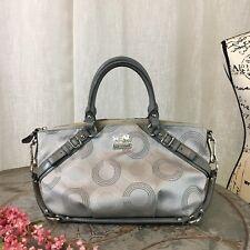 Coach Madison Dotted OP Art Sophia Satchel Shoulder Bag 15935 Silver
