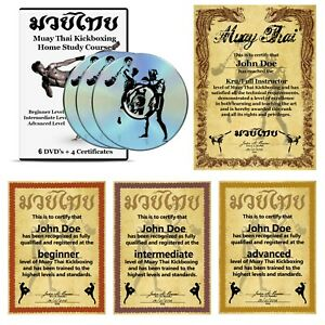 Home Study Course: Muay Thai Kickboxing (6 DVD Set + 4 Certificates)