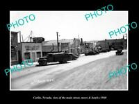 OLD LARGE HISTORIC PHOTO OF CARLIN NEVADA, THE MAIN St, STORES & HOTELS c1940