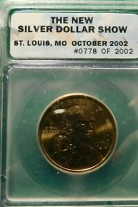 ICG SILVER DOLLAR SHOW ST. LOUIS MO OCT 2002 #0778 OF #2002 COIN!  a717TXX