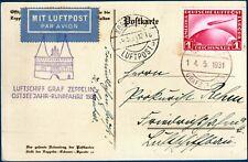 """Germania - 1931 - Graf Zeppelin """"OSTSEEJAHR-RUNDFAHRT"""" - cartolina"""