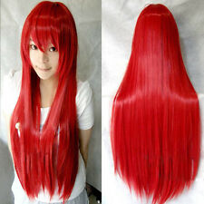 Cosplay Party Long Natural Straight Anime Wigs Full Hair Wig 10 Colors US STOCK