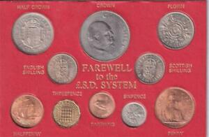 FAREWELL TO THE LSD SYSTEM,LAST OF THE UK PRE DECIMAL COIN SET,BU GRADE  S10