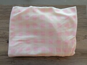 New Crib Sheet Pink/Off-White Check Pattern No Package
