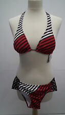 BNWT Brown and Red Bikini From Raisins size S