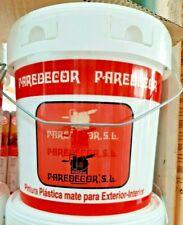 PINTURA PLASTICA BLANCA 5KG INTERIOR- EXTERIOR PAREDECOR . ANTIMOHO. LAVABLE.