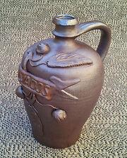 Ancienne bouteille en grès Calvados art pop déco vintage french antique potery