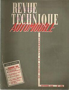 REVUE TECHNIQUE AUTOMOBILE 173 RTA 1960 PEUGEOT 203 EVOLUTION 1957 1958 1959 60