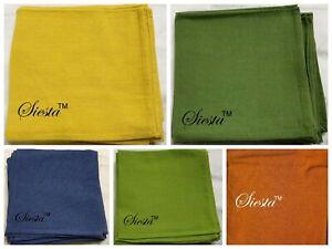 Napkins 100% Pure Cotton 43cm x 43cm  Assorted Colour Quality Serviette Tablewea