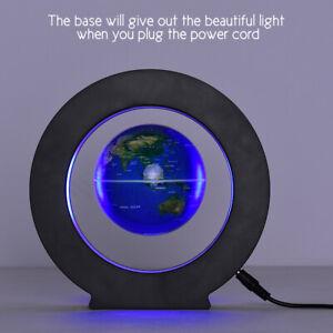 """3,5"""" LED Magnetisch Schwebende Globus Levitation O Form LED Weltkarte Home Deko"""