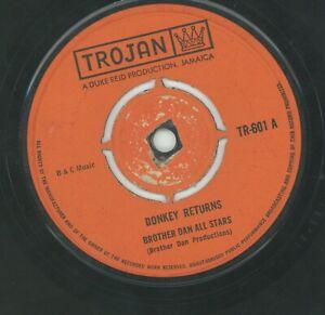 """"""" DONKEY RETURNS."""" brother dan all stars.TROJAN 7in 1968."""