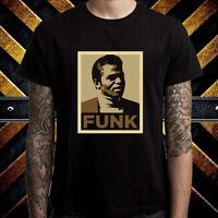 James Brown Funk Godfather Of Soul Men's Black T-Shirt Size S to 3XL