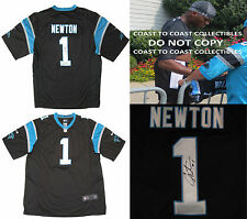 CAM NEWTON,SIGNED,AUTOGRAPHED,CAROLINA PANTHERS JERSEY,COA,WITH PROOF