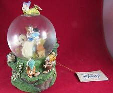 """SNOW WHITE & THE SEVEN DWARFS MUSICAL SNOW GLOBE """"SOMEDAY MY PRINCE WILL COME"""""""