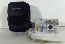 Sony CYBER-SHOT DSC-W50 6.0MP Digital Camera - Silver - w/ carry case - Untested