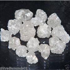 10 CT 5.0-5.5 MM NATURAL WHITE UNCUT RAW DIAMOND ROUGH DIAMOND LOT - JEWEL USE