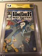 THE PUNISHER WAR JOURNAL #1 CGC 9.8 SS Signed N Sketch By Carl Potts Rare*