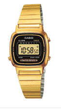 Casio Classic Ladies Black Dial Gold Plated Digital Watch LA670WEGA-1DF. VRIY