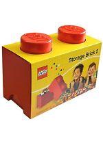 LEGO Storage Brick - 2 Knob - Red
