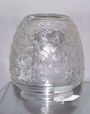 "Vintage Clear ACORN SHAPE Swirls Glass Light Fixture Replacement GLoBe 3.25"" Ftr"