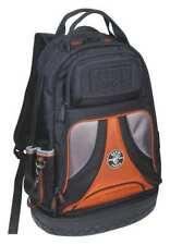 "Klein Tools 20"" Electricians Tool Backpack, 39 Pockets, Black, Orange, 55421BP14"
