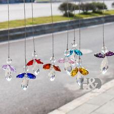 Hanging Crystal Guardian Angel Rainbow Suncatcher Window Car Pendant Home Decor