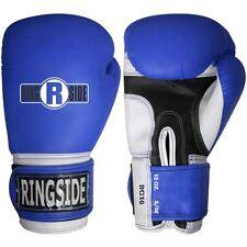 Ringside Boxing Pro Style Training Gloves Blue MMA L/xl Syn Leather 16oz Bg16