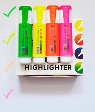 4 x Highlighter Pens High Quality Highlighter Marker Assorted 4 Colours Nontoxic