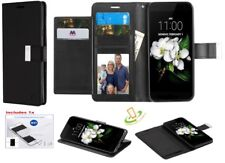 Samsung GALAXY Note 9 Leather Wallet Dual Flip Card Case Holder Cover +Kit BLACK